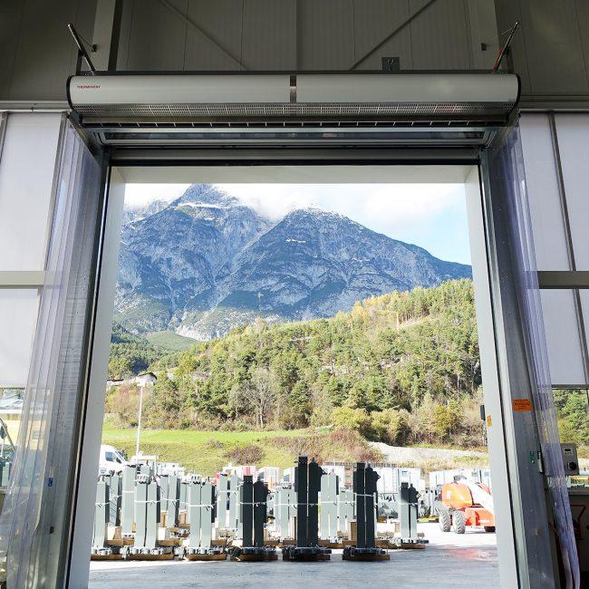 THERMOVENT Sistema de cortina de aire TIPO S-550